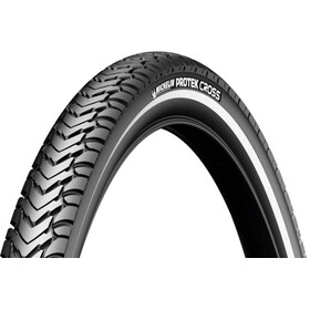 "Michelin Protek Cross Bike Tyre 28"", wire bead, Reflex black"
